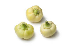 White bell peppers. On white background Stock Image