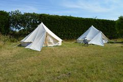 White bell tents Stock Photography