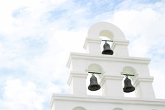 White bell tower Royalty Free Stock Photo
