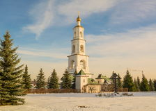 White bell tower Stock Photography