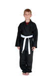 White Belt Boy. Cute young boy in martial arts uniform and white belt Stock Images
