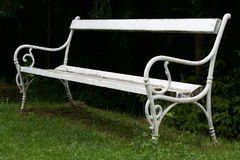 White bench Royalty Free Stock Photography