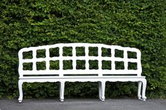White bench Stock Image