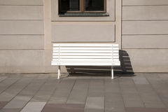 White Bench Stock Images