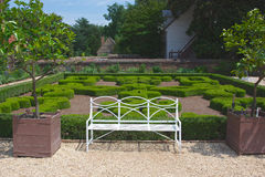 Free White Bench For Visitors At Mount Vernon Royalty Free Stock Photos - 31673268