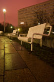 White bench in the night Royalty Free Stock Photo