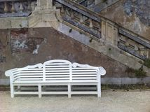 White bench Royalty Free Stock Photo