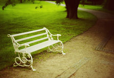White bench Stock Photography