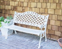 A white bench Royalty Free Stock Photography
