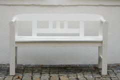 White bench Royalty Free Stock Image
