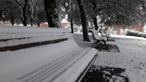White benches Royalty Free Stock Photo