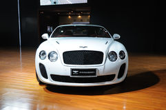 White Bentley Continental supersports Royalty Free Stock Images