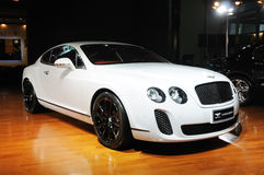 White Bentley Continental supersports Royalty Free Stock Image