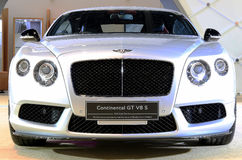 White Bentley series Continental GT V8 S luxury  car Stock Images
