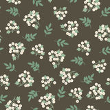 White berries seamless pattern Stock Images