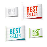 White bestseller labels with shadow. Illustration Royalty Free Stock Photo