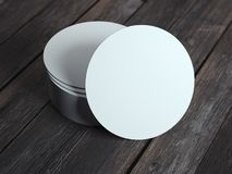 White beverage coasters. 3d rendering Stock Images