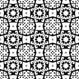 white bezszwowy czarny wzoru Fotografia Royalty Free