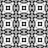 white bezszwowy czarny wzoru Zdjęcia Royalty Free