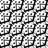 white bezszwowy czarny wzoru Zdjęcie Stock