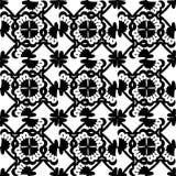 white bezszwowy czarny wzoru Zdjęcie Royalty Free