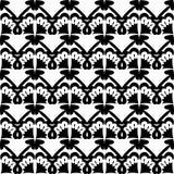 white bezszwowy czarny wzoru Obraz Royalty Free