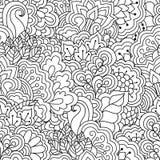 white bezszwowy czarny wzoru Obrazy Royalty Free