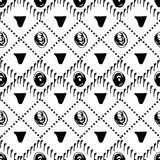 white bezszwowy czarny wzoru etniczne tło ilustracja wektor