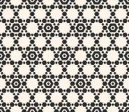 white bezszwowy czarny wzoru Wektorowa geometryczna heksagonalna siatka, kratownica, powtórek płytki ilustracji