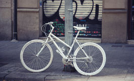 White  bicycle Royalty Free Stock Image