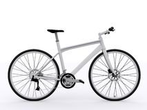White bicycle. On white background Royalty Free Stock Images