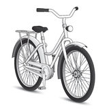 White Bicycle. Black and White Bicycle with a heavy black stroke/outline ized Royalty Free Stock Photos