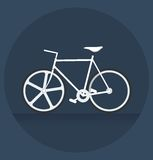 White bicycle in the dark Royalty Free Stock Photo
