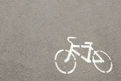 The white bicycle on a royalty free stock photos