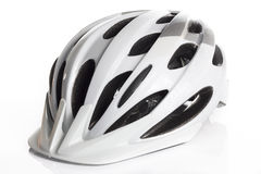 White Bicycle Helmet Royalty Free Stock Images