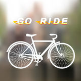 White bicycle Royalty Free Stock Photos