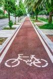 White bicycle symbol Stock Photo