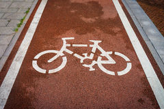 White bicycle symbol Royalty Free Stock Photography
