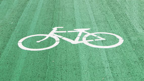 White bicycles on lane Royalty Free Stock Photography
