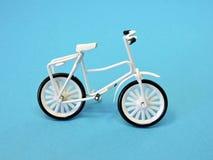 White bicycle. Toy. Stock Photo