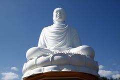 White Biddha. White sitting on the lotus Buddha in Nha Trang, Vietnam Royalty Free Stock Photos