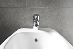 White Bidet closeup Royalty Free Stock Photos