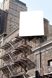 White big billboard and fire steps Royalty Free Stock Image