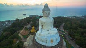 White big Buddha on hilltop of Phuket island Thailand Royalty Free Stock Photography