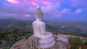 White big Buddha on hilltop of Phuket island Thailand Stock Photography