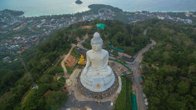 White big Buddha on hilltop of Phuket island Thailand Royalty Free Stock Image