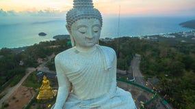 White big Buddha on hilltop of Phuket island Thailand Royalty Free Stock Images