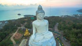White big Buddha on hilltop of Phuket island Thailand Royalty Free Stock Photos