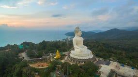 White big Buddha on hilltop of Phuket island Thailand Royalty Free Stock Photo