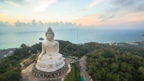 White big Buddha on hilltop of Phuket island Thailand Stock Image